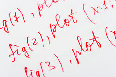在纸的数学惯例 免版税库存照片