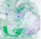 在纸的明亮的美好的被绘的纹理与油漆 库存照片