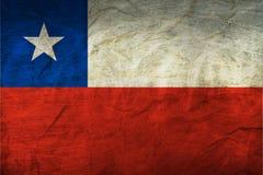 在纸的智利旗子 免版税库存照片
