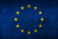 在纸的欧洲旗子 库存图片