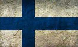 在纸的芬兰旗子 库存照片