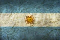 在纸的阿根廷旗子 免版税图库摄影