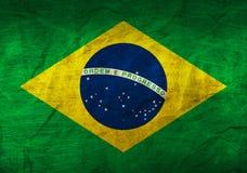在纸的巴西旗子 库存图片