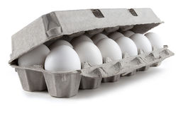 白鸡蛋 库存图片