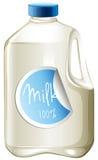 在纸盒的牛奶 向量例证