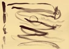在纸纹理的抽象水彩作为背景 在乌贼属吨 库存图片
