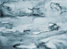 在纸纹理的抽象灰色水彩作为背景 免版税库存照片