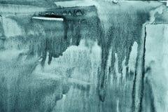 在纸纹理的抽象蓝色水彩作为背景 Christm 库存图片