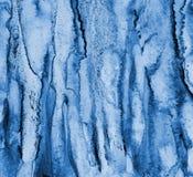 在纸纹理的抽象蓝色水彩作为背景 Christm 免版税库存图片