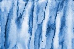 在纸纹理的抽象蓝色水彩作为背景 Christm 免版税图库摄影