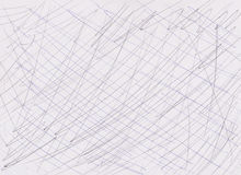 在纸纹理的笔线 库存图片