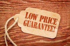 在纸价牌的低价保证 库存图片