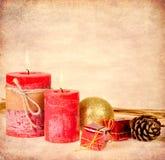 在纹理的圣诞节装饰 库存图片