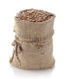 在纺织品大袋的扁豆 免版税库存图片