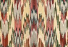 在纺织品的之字形设计 免版税图库摄影