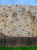 在纽格莱奇墓的石墙细节 库存图片