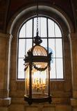 在纽约图书馆的蜡烛枝形吊灯 库存照片