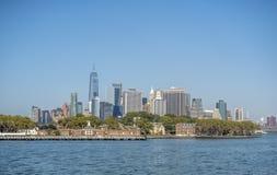 在纽约城降低曼哈顿 免版税库存图片