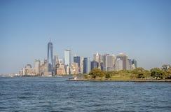 在纽约城降低曼哈顿 免版税库存照片