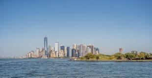 在纽约城降低曼哈顿 库存照片