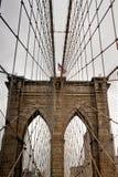 在纽约投掷了布鲁克林大桥 免版税库存图片