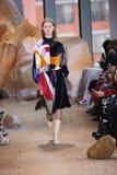 在纽约时尚星期期间,模型走跑道在拉科斯特展示 免版税库存图片