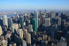 在纽约的全景从帝国大厦 免版税库存图片