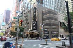 在纽约的时报广场街道 免版税库存图片