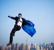 在纽约的超级英雄商人 免版税图库摄影
