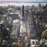 在纽约的风景看法 免版税库存图片