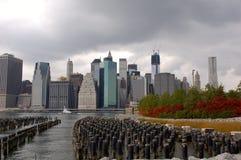 在纽约的飓风云彩 免版税库存图片