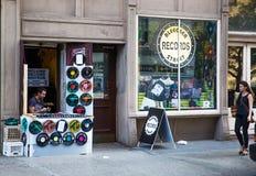 在纽约记录商店 免版税库存照片