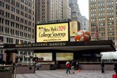 在纽约,美国入麦迪逊广场加登大门罩  图库摄影