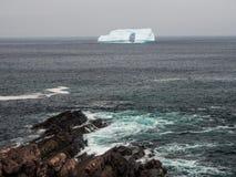 在纽芬兰的冰山 库存照片