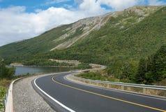 在纽芬兰的风景路 免版税库存图片