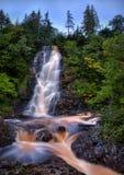 在纽芬兰,加拿大的焦糖瀑布 库存图片
