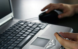 在线事务处理 免版税库存图片
