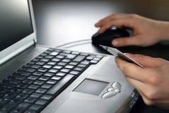 在线事务处理 免版税库存照片