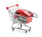 在线互联网购物。 库存图片