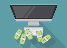 在线企业概念 免版税库存照片