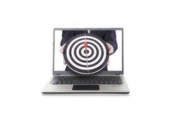 在线企业目标 免版税库存照片