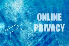 在线保密性 免版税库存照片