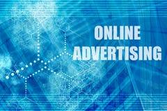 在线做广告 免版税库存照片