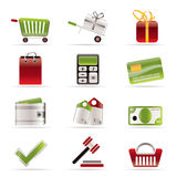 在线图标购物 免版税库存照片