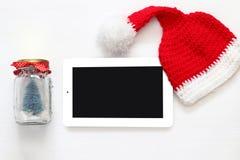 在线圣诞节假日购物概念 库存照片