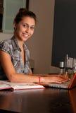在线女孩 免版税库存图片