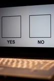 在线投票 免版税库存照片