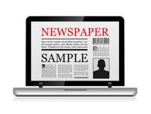 在线报纸 向量例证
