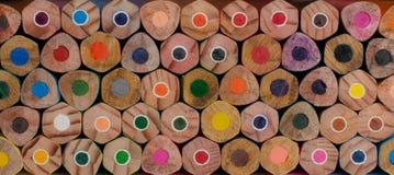 在线排序的木蜡笔 免版税库存照片