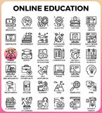 在线教育 库存例证